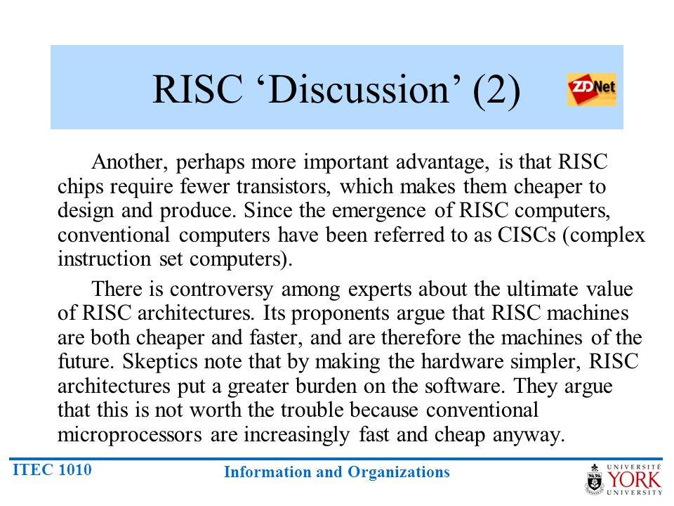 RISC 'Discussion' (2)