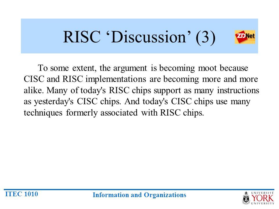 RISC 'Discussion' (3)