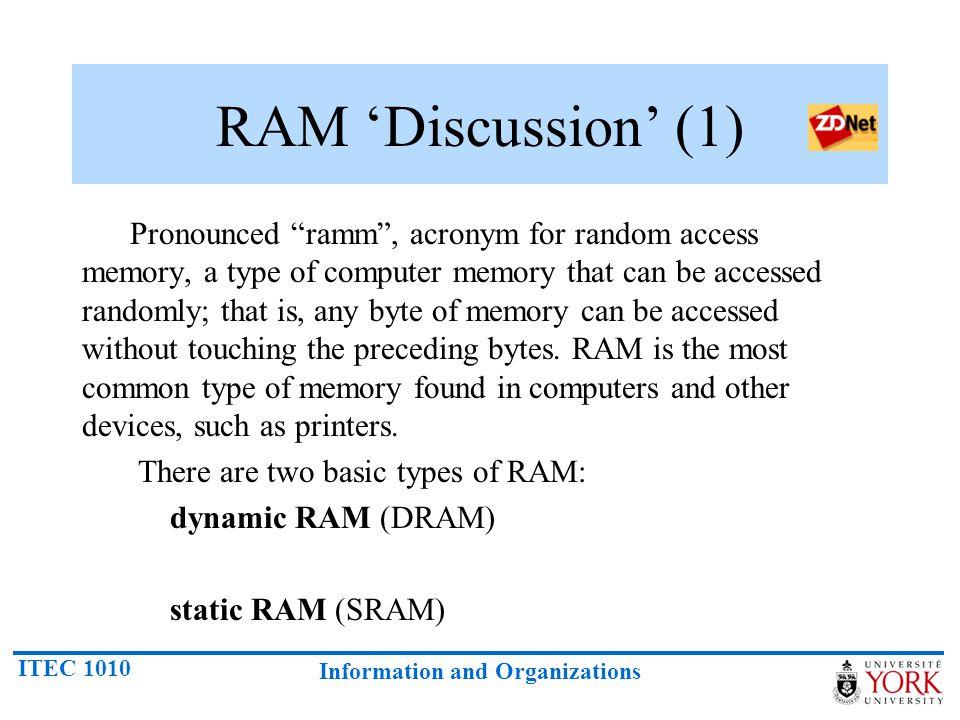 RAM 'Discussion' (1)