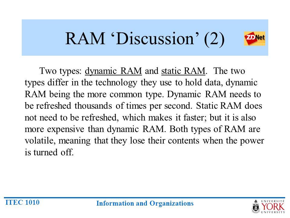 RAM 'Discussion' (2)