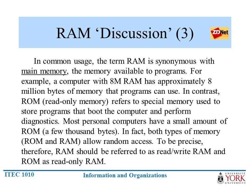 RAM 'Discussion' (3)