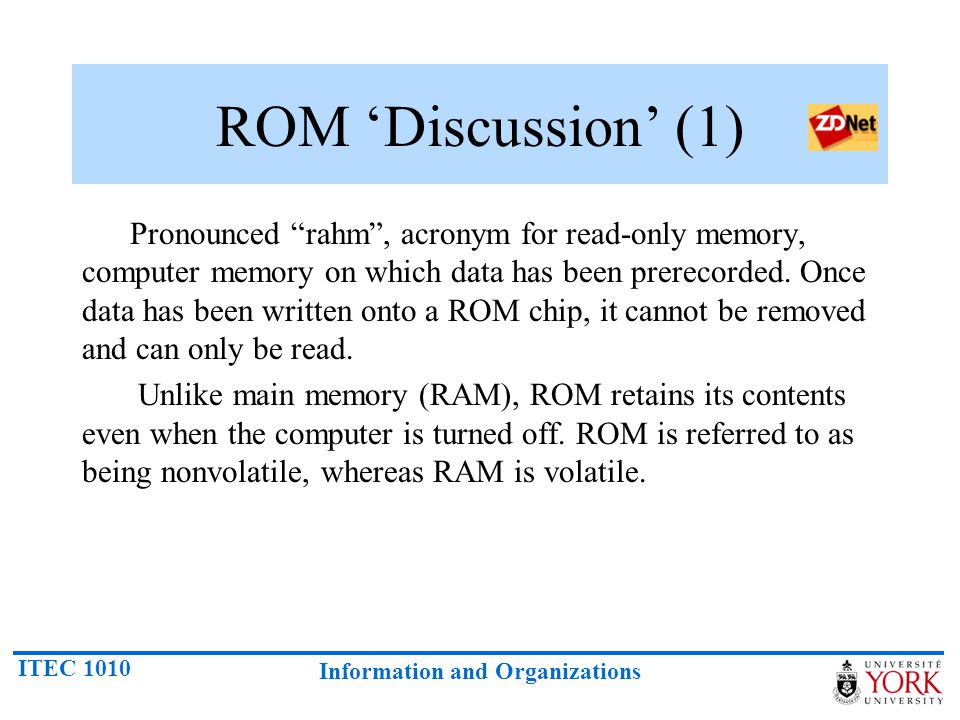 ROM 'Discussion' (1)