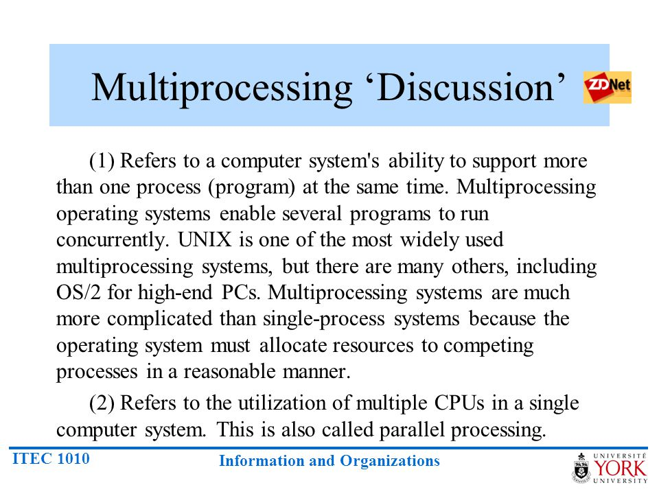 Multiprocessing 'Discussion'