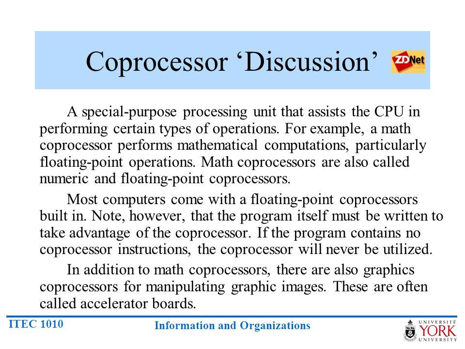 Coprocessor 'Discussion'