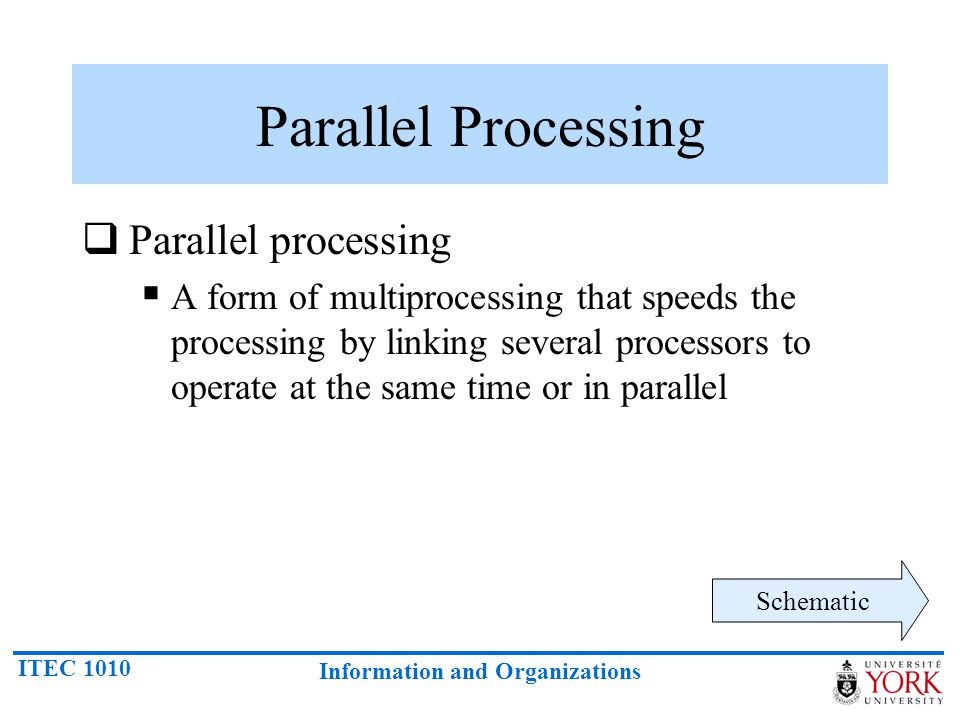 Parallel Processing Parallel processing
