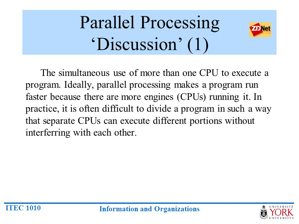 Parallel Processing 'Discussion' (1)