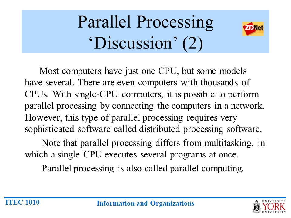 Parallel Processing 'Discussion' (2)