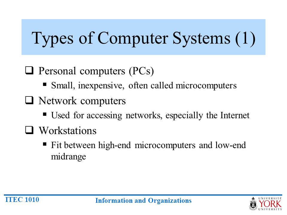 Types of Computer Systems (1)