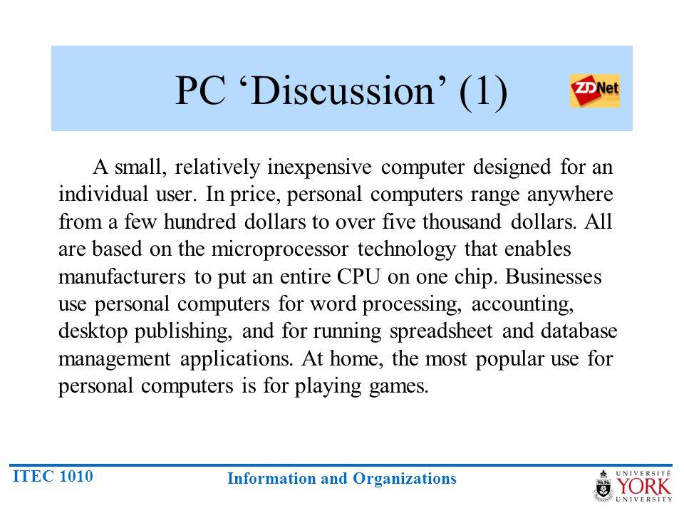PC 'Discussion' (1)