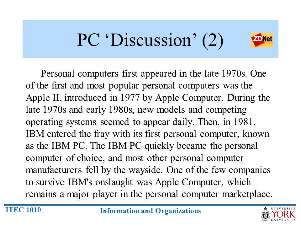 PC 'Discussion' (2)