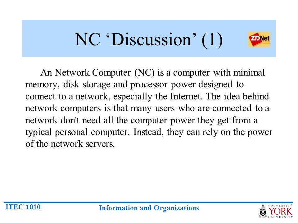 NC 'Discussion' (1)