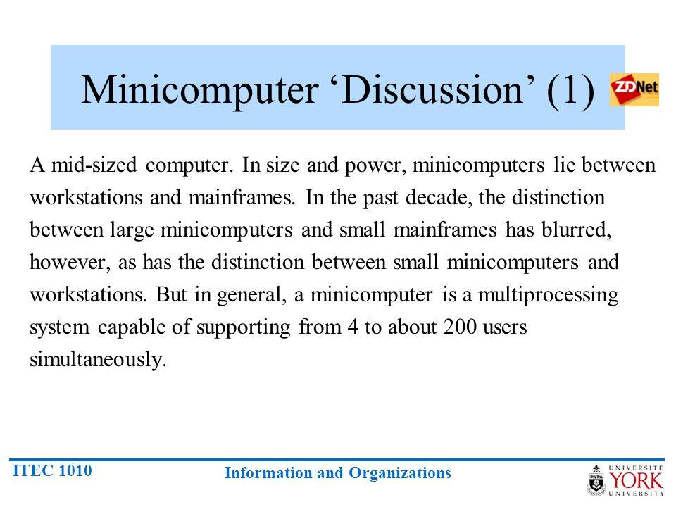 Minicomputer 'Discussion' (1)