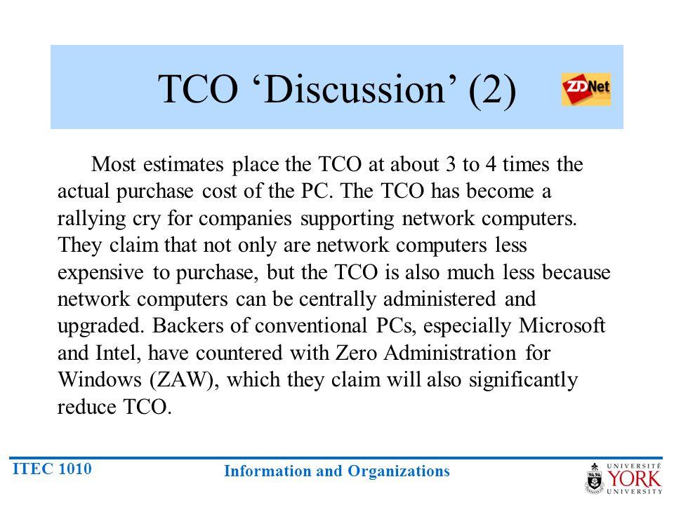 TCO 'Discussion' (2)