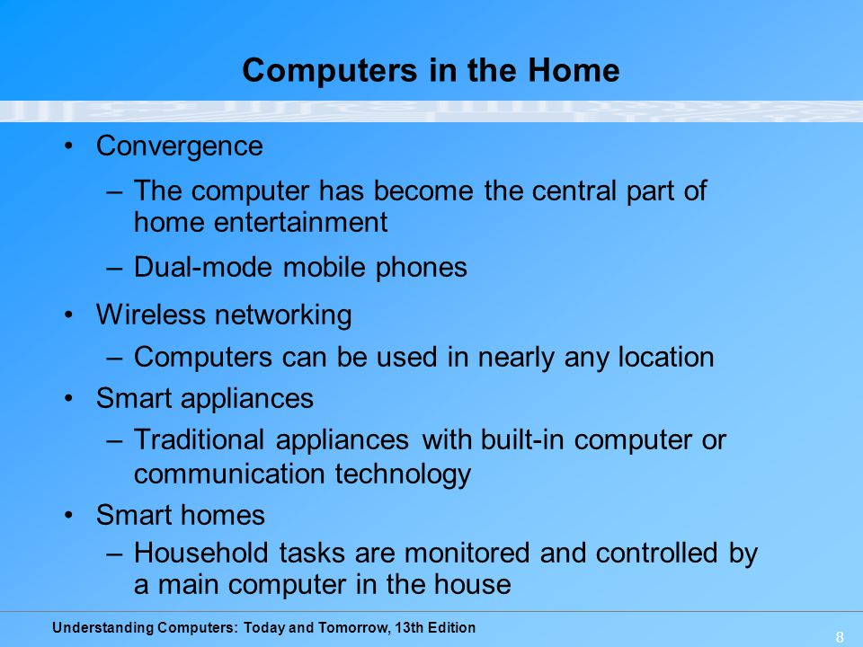 Computers in the Home Convergence