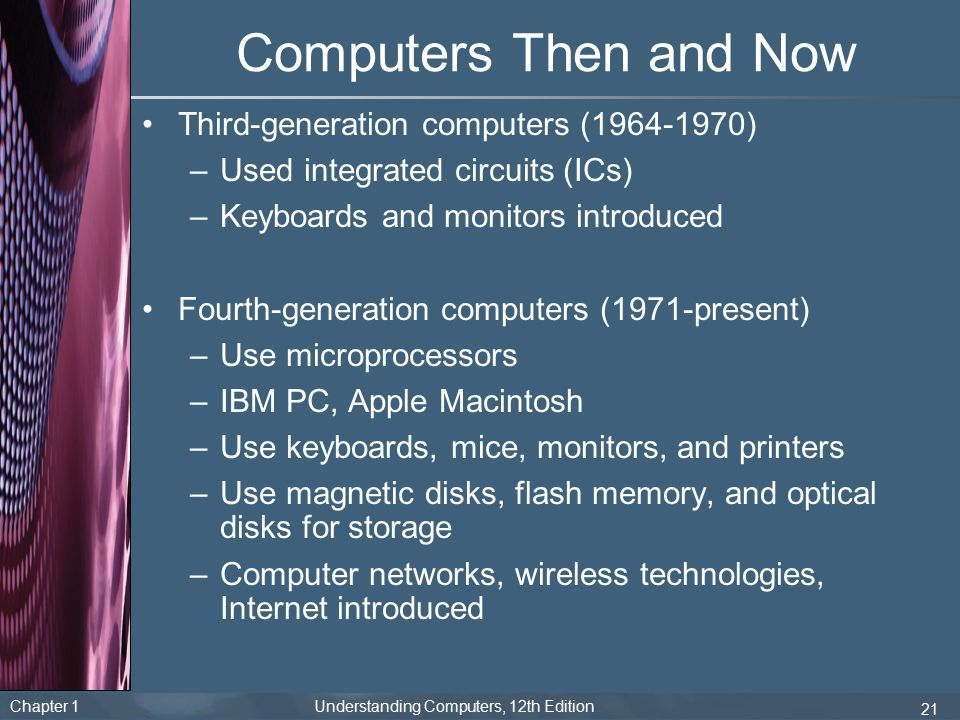 Computers Then and Now Third-generation computers (1964-1970)