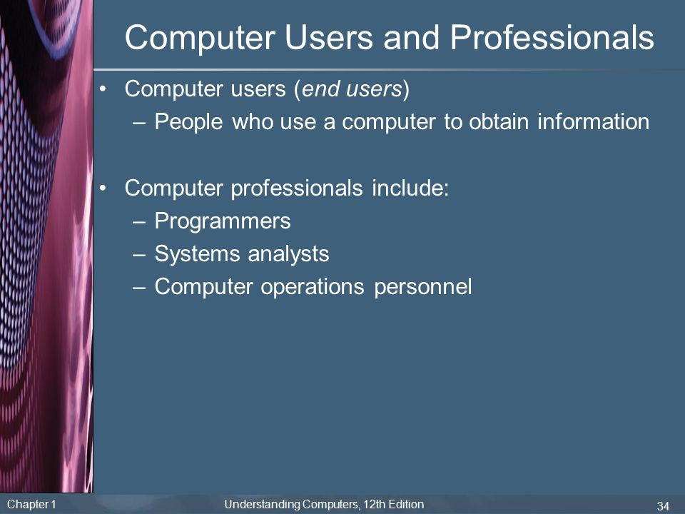 Computer Users and Professionals