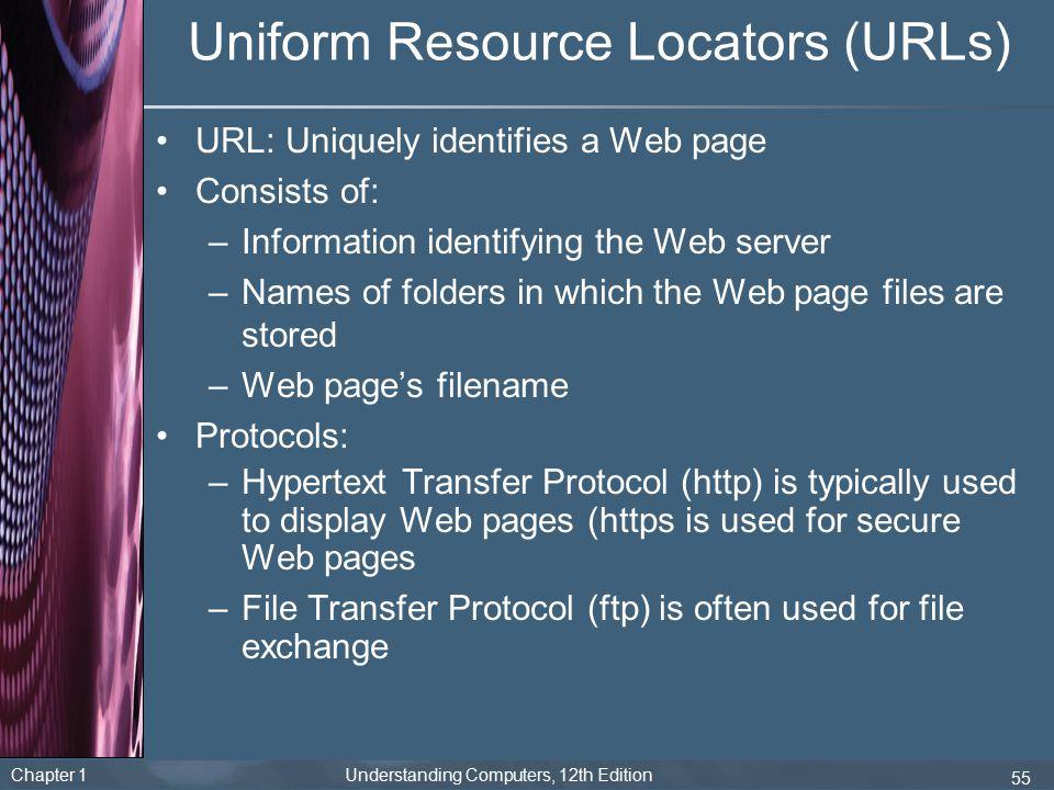 Uniform Resource Locators (URLs)