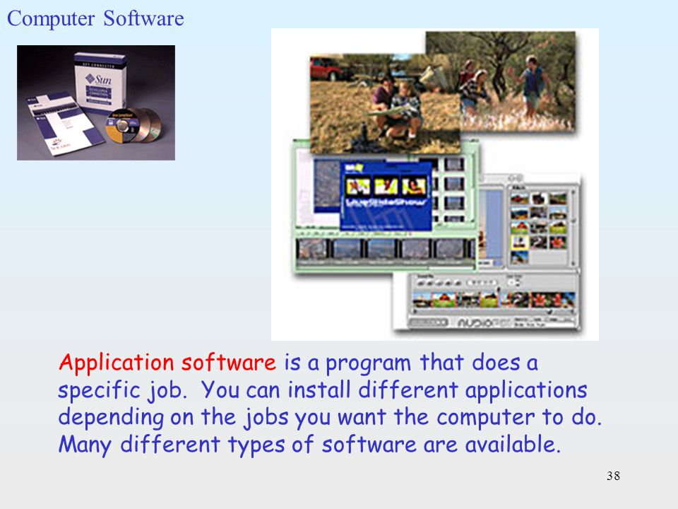 List the Different Types of Computer Software Packages