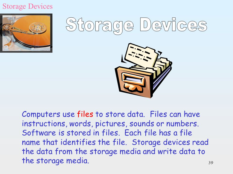 Storage Devices Storage Devices