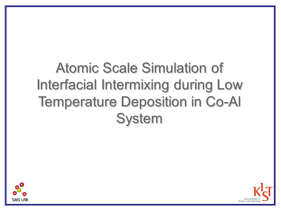 Atomic Scale Simulation of Interfacial Intermixing during Low Temperature Deposition in Co-Al System