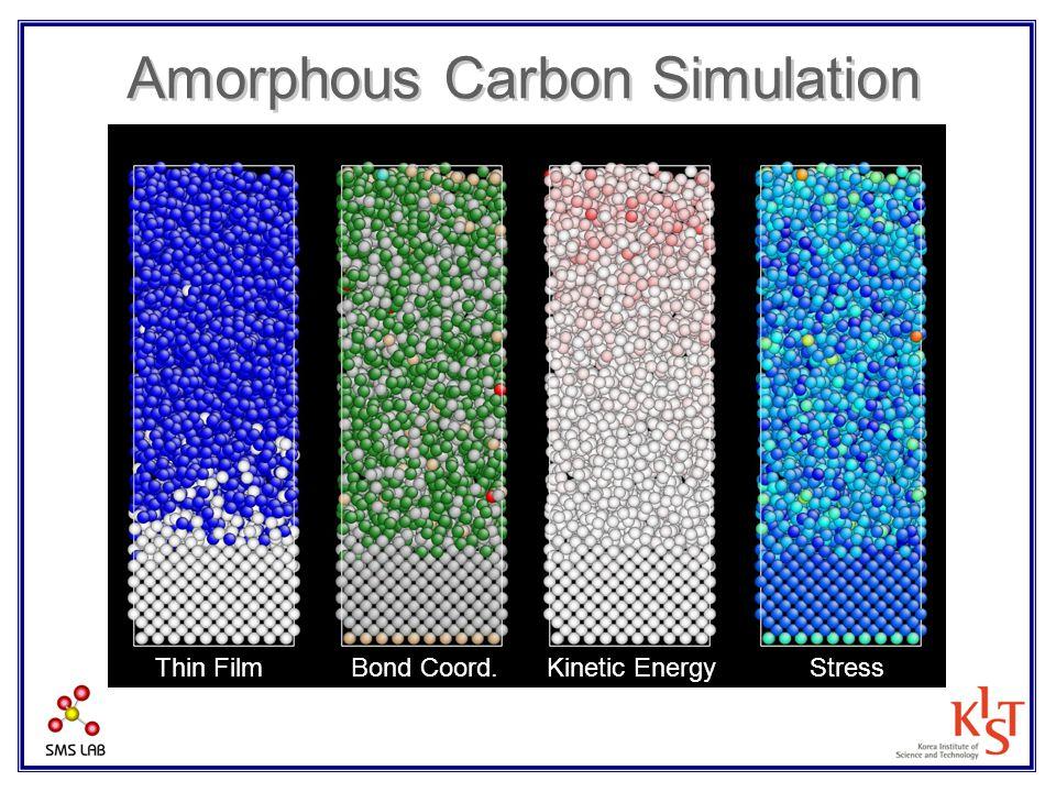 Amorphous Carbon Simulation