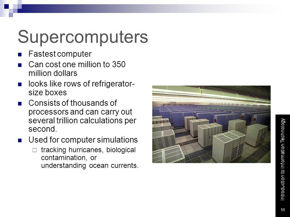 Supercomputers Fastest computer