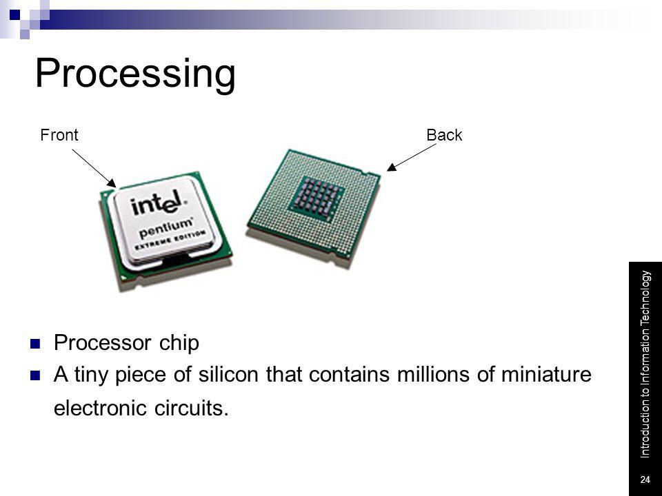 Processing Processor chip