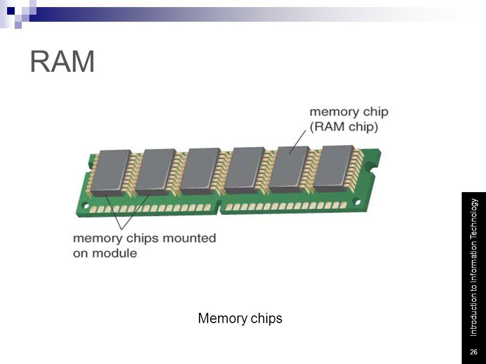 RAM Memory chips Memory chips: