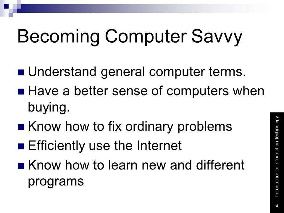 Becoming Computer Savvy