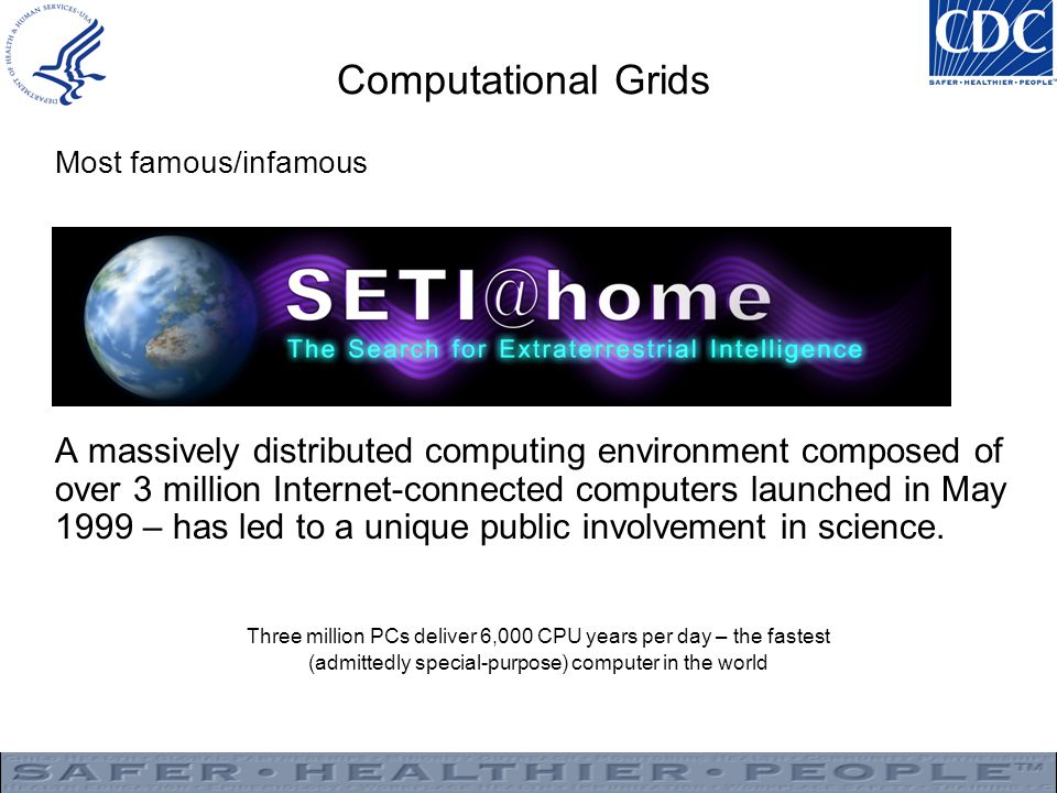 Computational Grids Most famous/infamous.
