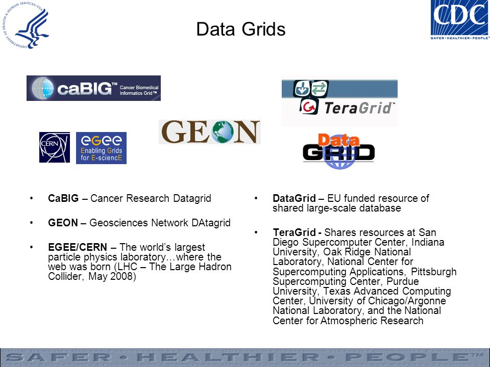 Data Grids CaBIG – Cancer Research Datagrid