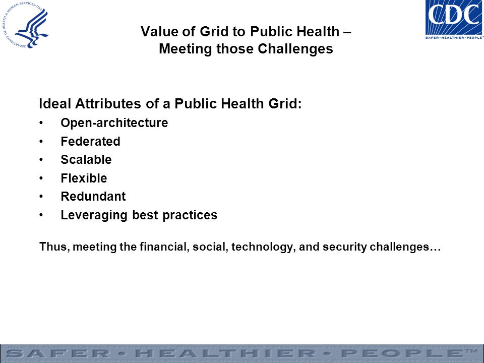 Value of Grid to Public Health – Meeting those Challenges
