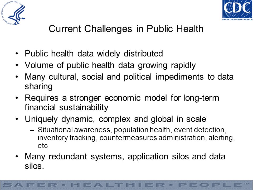 Current Challenges in Public Health
