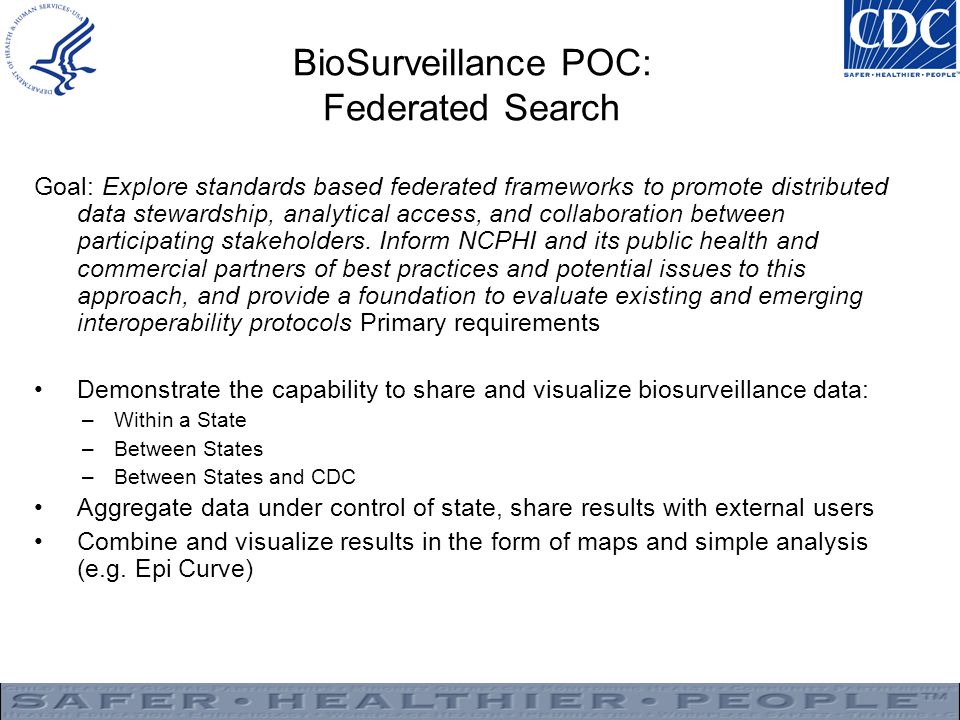 BioSurveillance POC: Federated Search
