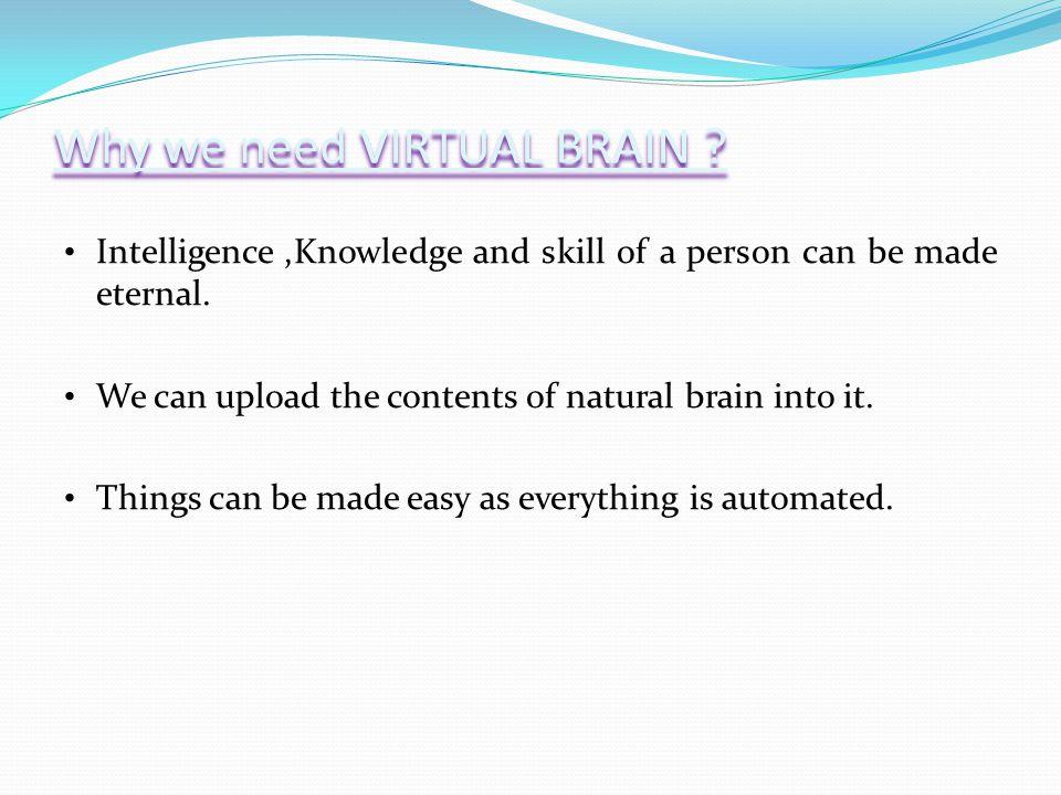 Why we need VIRTUAL BRAIN