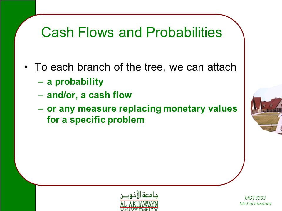 Cash Flows and Probabilities