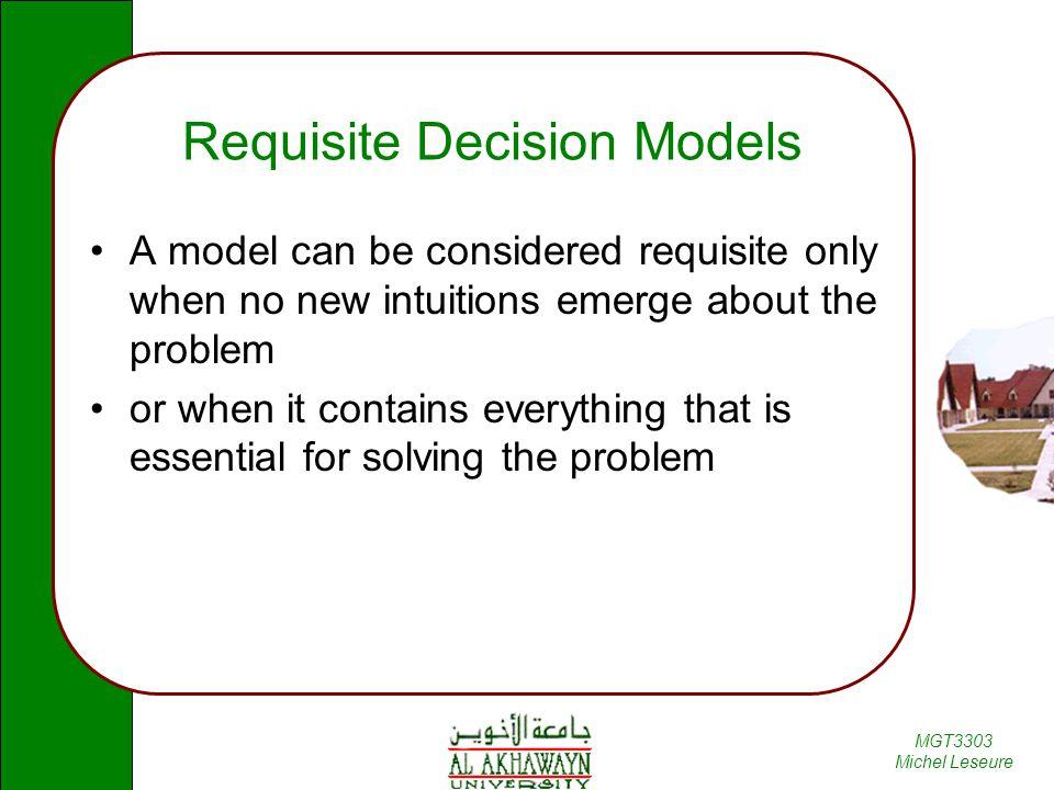 Requisite Decision Models