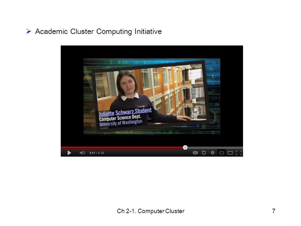 Academic Cluster Computing Initiative