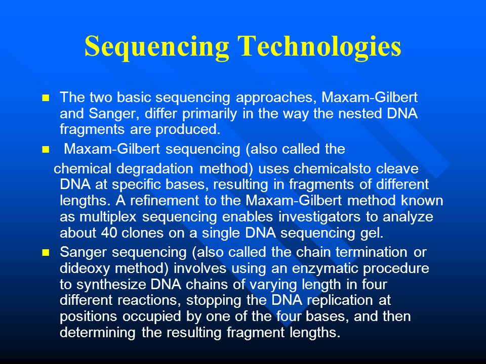 Sequencing Technologies