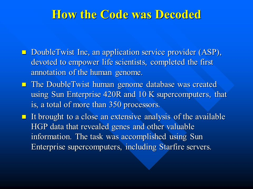 How the Code was Decoded