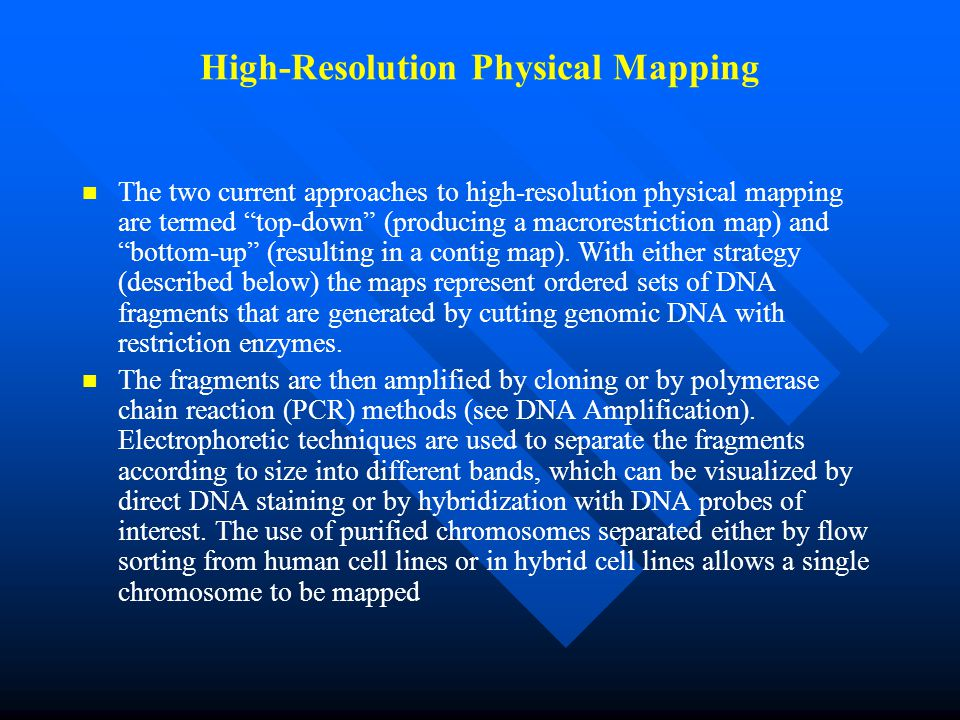 High-Resolution Physical Mapping
