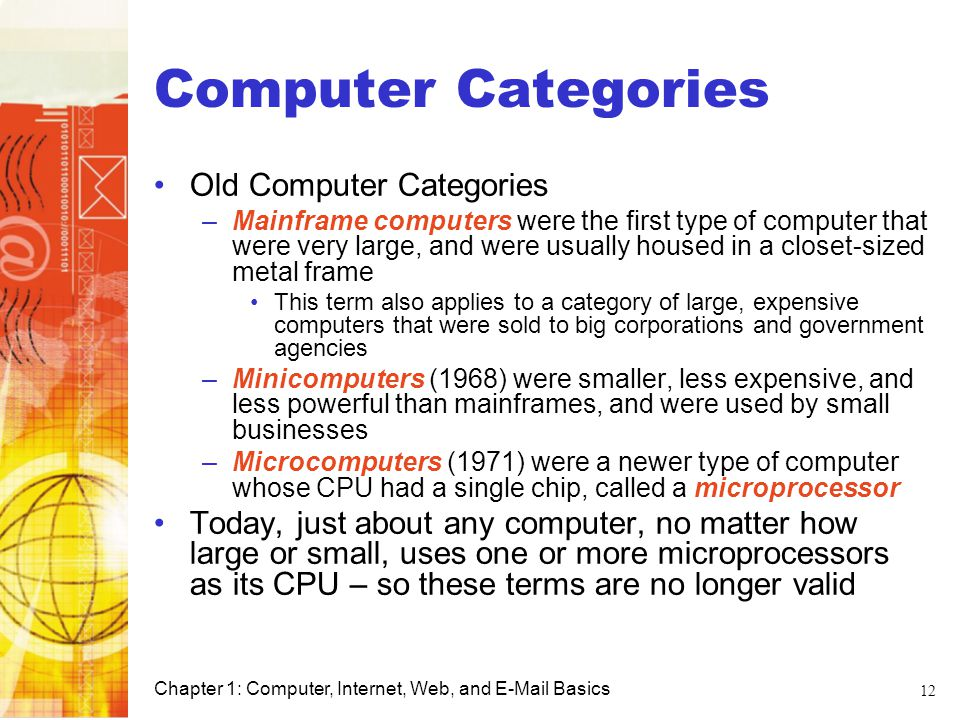 Computer Categories Old Computer Categories