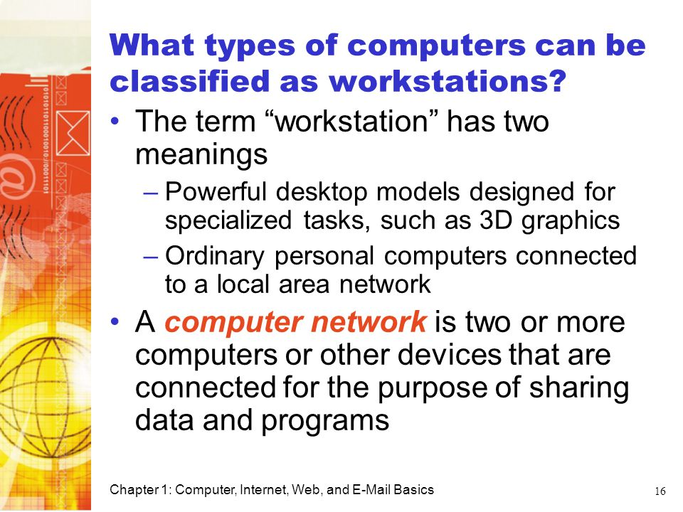 What types of computers can be classified as workstations