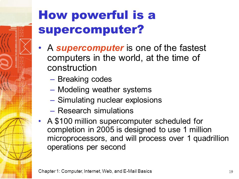 How powerful is a supercomputer