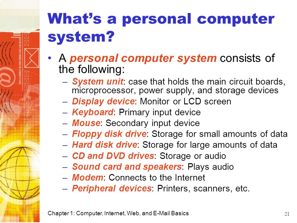 What's a personal computer system