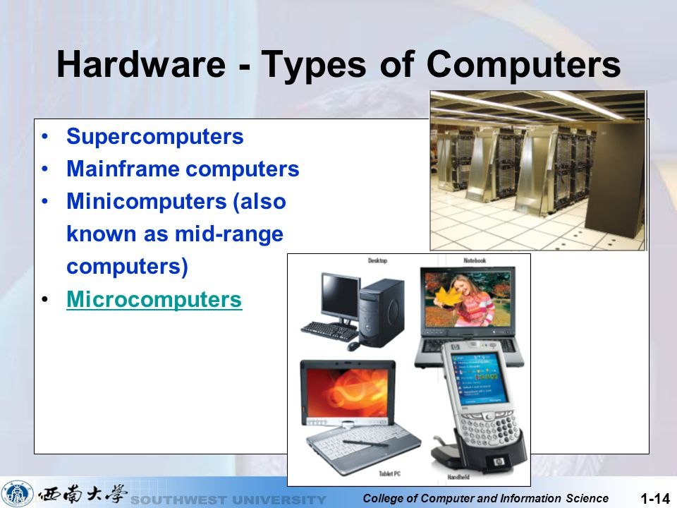 Hardware - Types of Computers