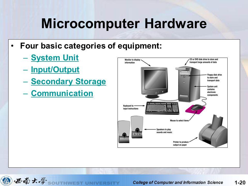 Microcomputer Hardware