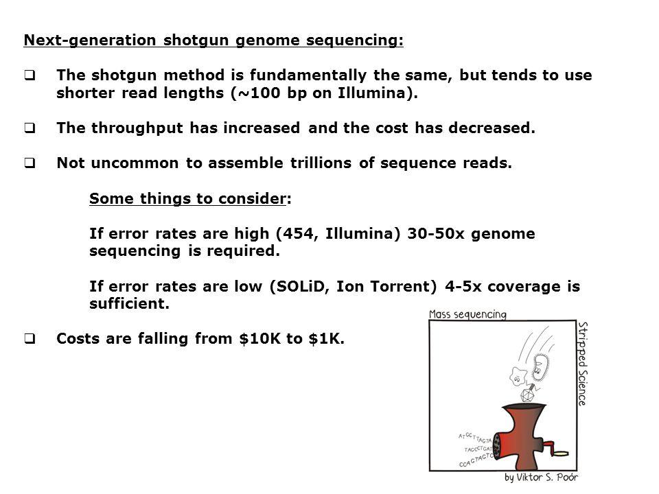 Next-generation shotgun genome sequencing: