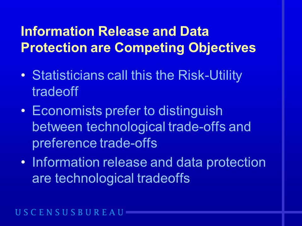 Information Release and Data Protection are Competing Objectives