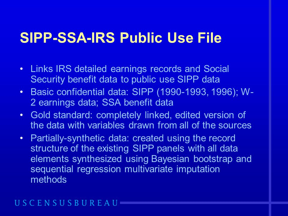 SIPP-SSA-IRS Public Use File
